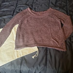 Free People Mauve Knit Sweater